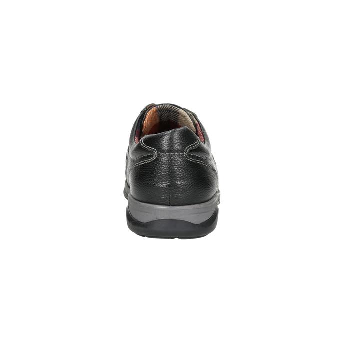 Herren-Sneakers aus Leder bata, Schwarz, 824-6921 - 17