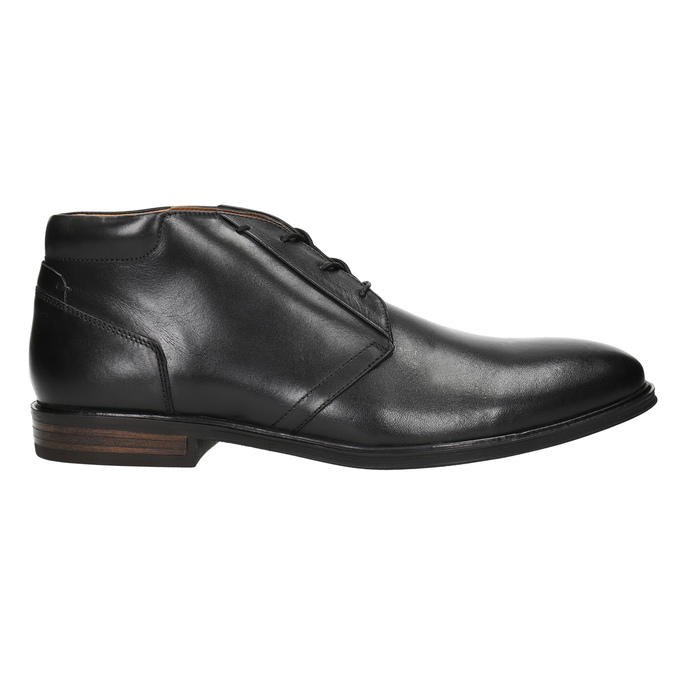 Herren-Knöchelschuhe aus Leder bata, Schwarz, 824-6913 - 15