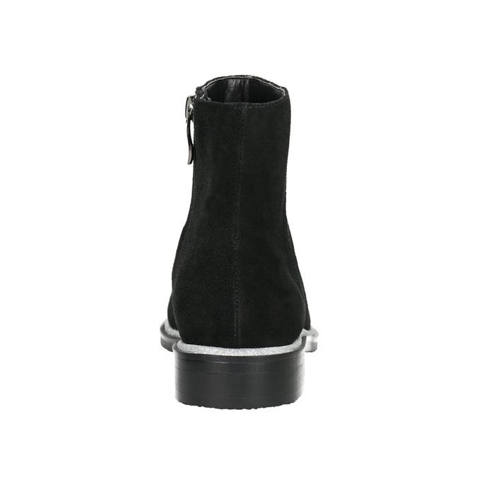 Knöchelschuhe aus Leder mit silberner Umrandung bata, Schwarz, 593-6603 - 17