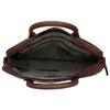 Leder-Herrentasche mit Steppung bata, Braun, 964-4139 - 15