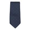 Set, bestehend aus Krawatte und Einstecktuch mit Muster bata, Blau, 999-9296 - 26