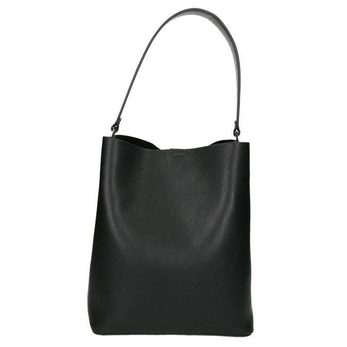 Zweifarbige Damenhandtasche bata, Schwarz, 961-6173 - 17