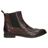 Damen-Chelsea-Boots mit Brogue-Verzierung bata, Braun, 596-4683 - 26