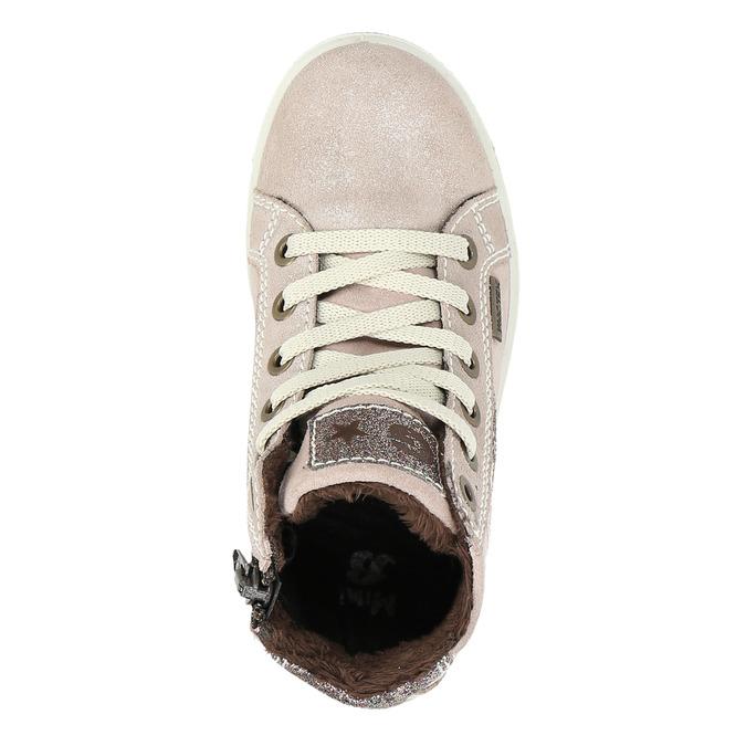 Knöchelhohe Kinder-Sneakers aus Leder mini-b, Rosa, 223-5170 - 26