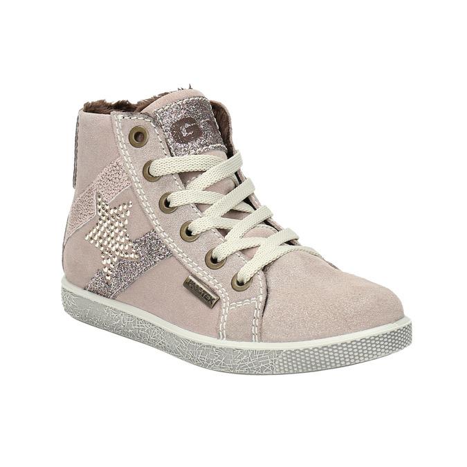 Knöchelhohe Kinder-Sneakers aus Leder mini-b, Rosa, 223-5170 - 13