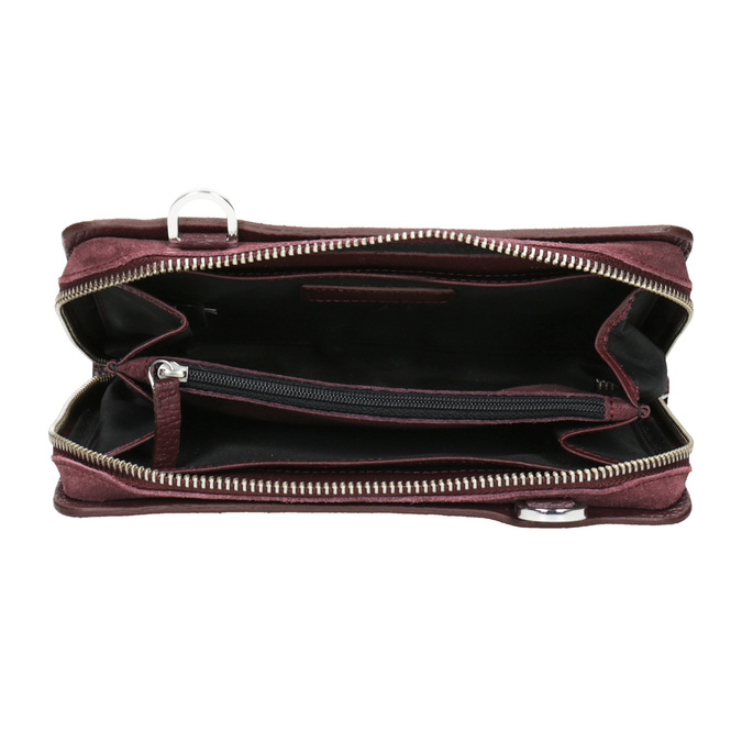 Rote Crossbody-Handtasche aus Leder royal-republiq, Rot, 963-5050 - 15