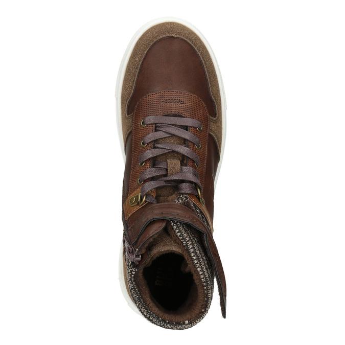 Knöchelhohe Kinder-Sneakers, Braun, 491-4013 - 15