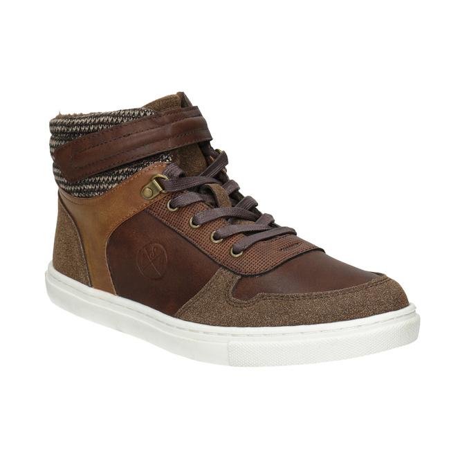 Knöchelhohe Kinder-Sneakers, Braun, 491-4013 - 13