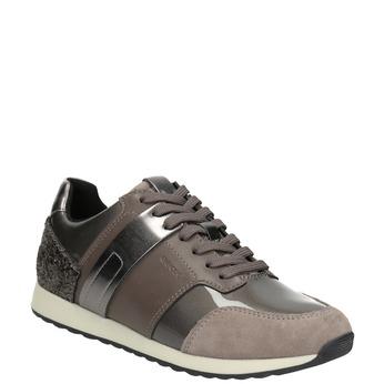 Sneakers mit Glitzereffekt geox, Braun, 621-8045 - 13