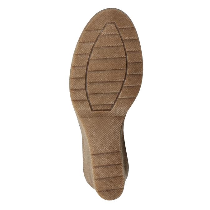 Braune Lederstiefel bata, Braun, 793-4607 - 19