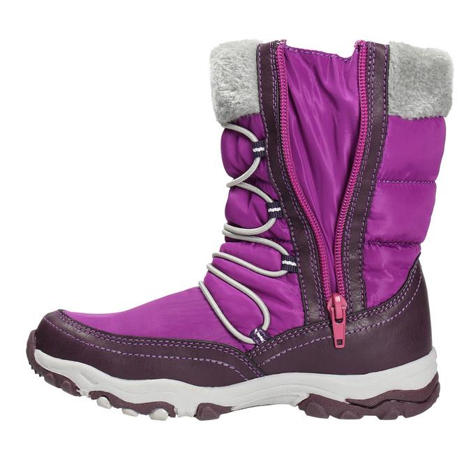 Mädchen-Schneestiefel mit Pompons mini-b, Violett, 399-5656 - 26