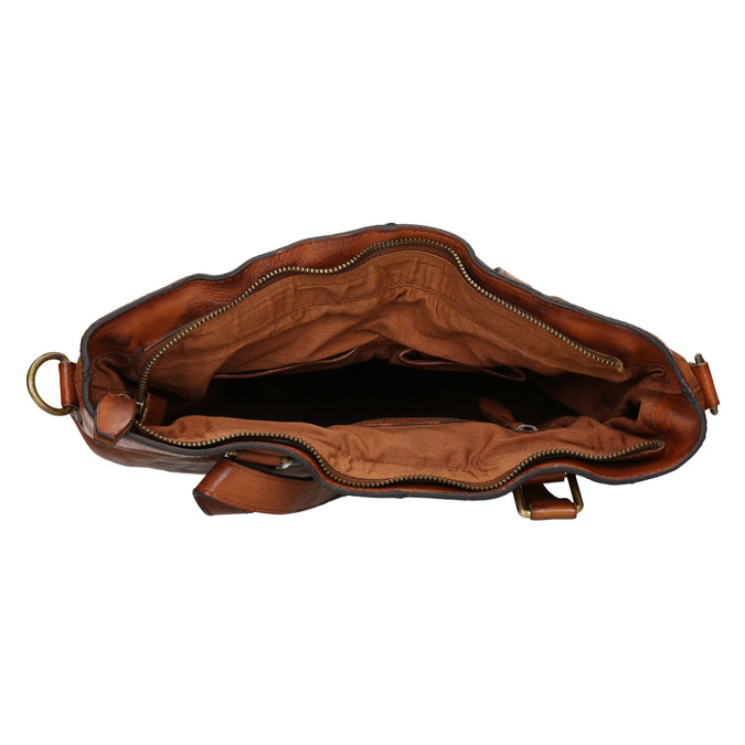 Damenhandtasche aus Leder, Braun, 964-3245 - 15