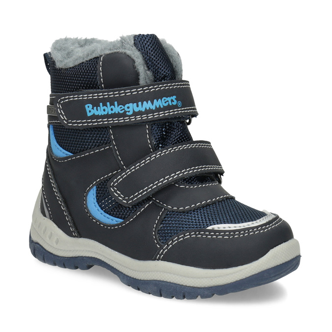 Kinder-Winterschuhe mit Fell bubblegummer, Blau, 199-9602 - 13