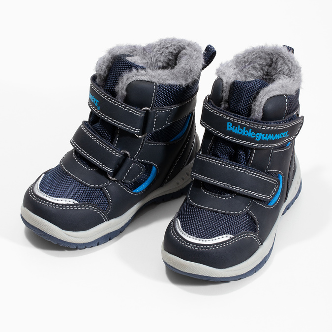 Kinder-Winterschuhe mit Fell bubblegummer, Blau, 199-9602 - 16