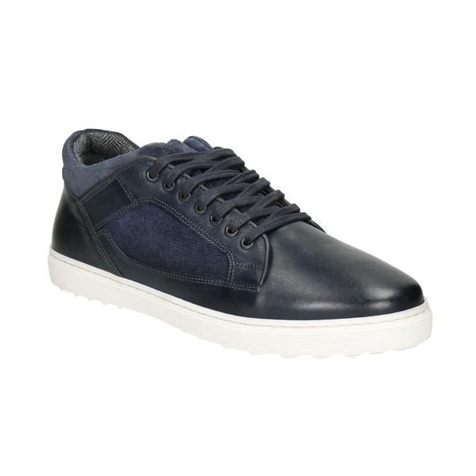 Herren-Sneakers aus Leder bata, Schwarz, 846-6643 - 13