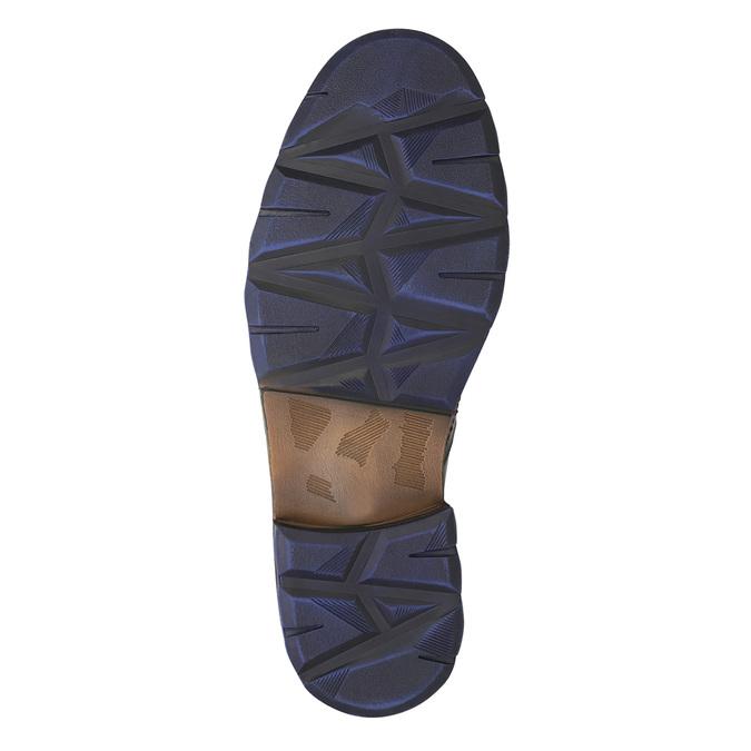 Lederschuhe mit blauen Details bata, Grau, 896-2679 - 19