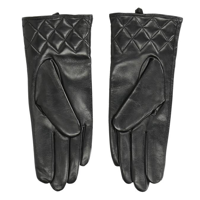 Schwarze Damenhandschuhe aus Leder bata, Schwarz, 904-6131 - 16