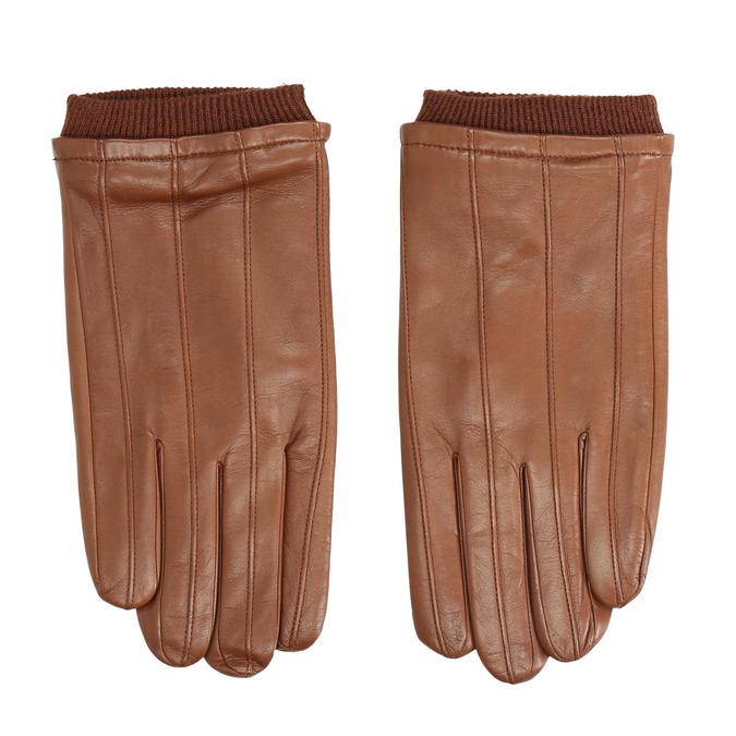 Braune Lederhandschuhe bata, Braun, 904-3117 - 26
