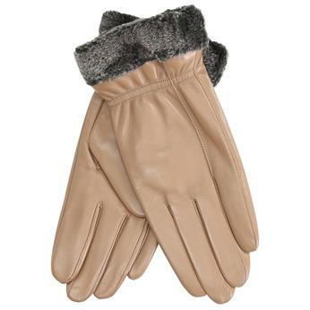 Beigefarbene Damenhandschuhe aus Leder bata, Beige, 904-4112 - 13