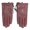 Weinrote Lederhandschuhe mit Reißverschluss bata, Rot, 904-5108 - 26