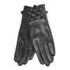 Schwarze Damenhandschuhe aus Leder bata, Schwarz, 904-6131 - 13
