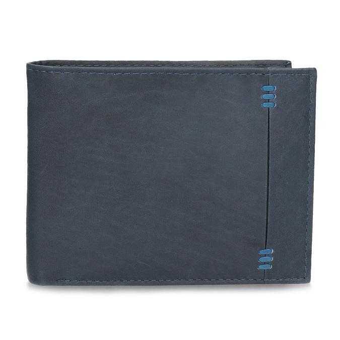 Herren-Geldbörse aus Leder, Blau, 944-9188 - 26