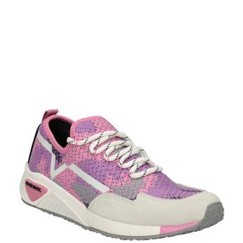 Sportliche, rosa Sneakers diesel, Rot, 509-5760 - 13