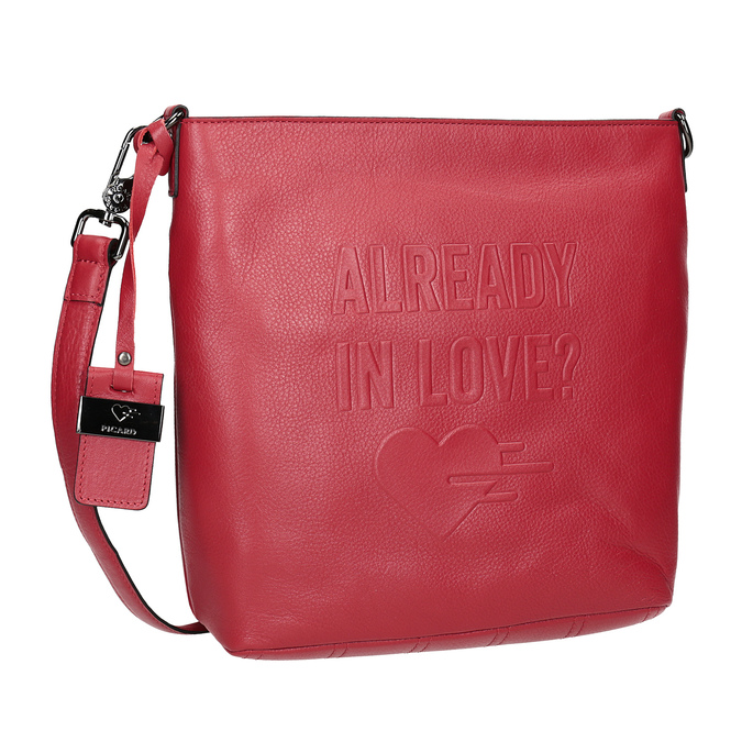 Rote Crossbody-Handtasche aus Leder picard, Rot, 964-5094 - 13