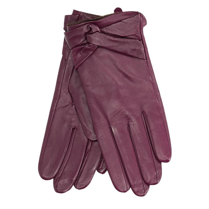 Damenhandschuhe aus Leder, Violett, 904-0109 - 13