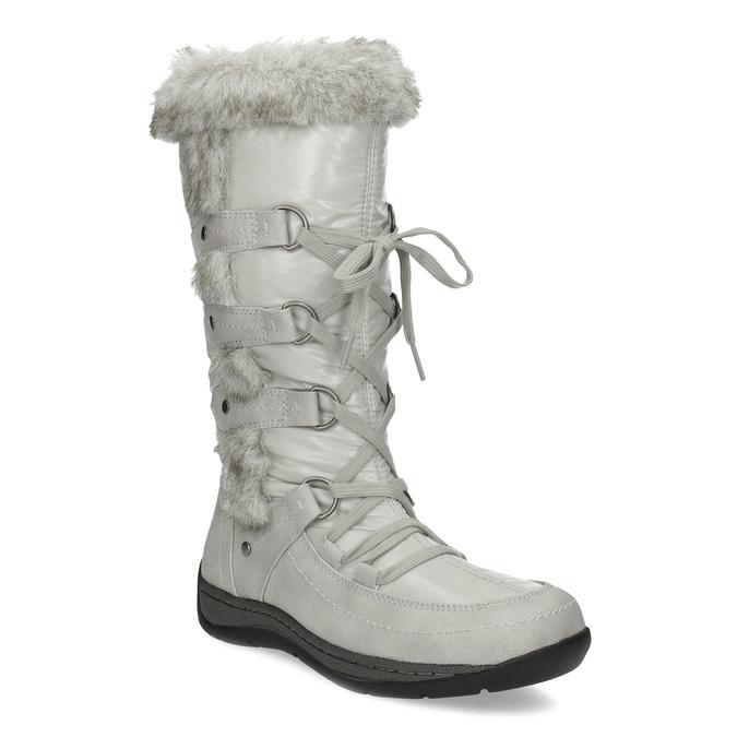 Schneestiefel mit Fell bata, Grau, 599-8618 - 13