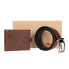 Geschenk-Set Ledergürtel und Geldbörse bata, Braun, 954-4200 - 13