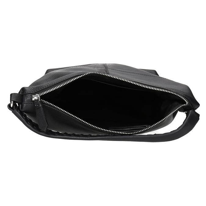 Hobo-Handtasche aus Leder mit Steppung bata, Schwarz, 964-6290 - 15
