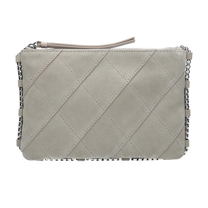 Crossbody-Damenhandtasche aus Leder bata, Grau, 963-1193 - 26