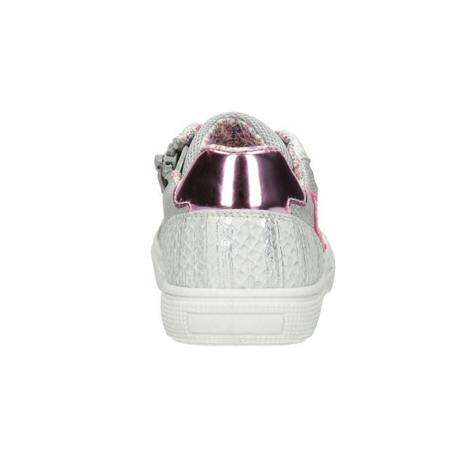 Mädchen-Sneakers mit Stickmotiv mini-b, Silber , 321-1381 - 16