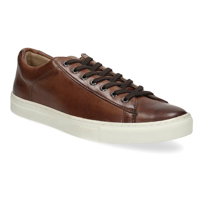 Herren-Sneakers aus Leder bata, Braun, 846-4648 - 13