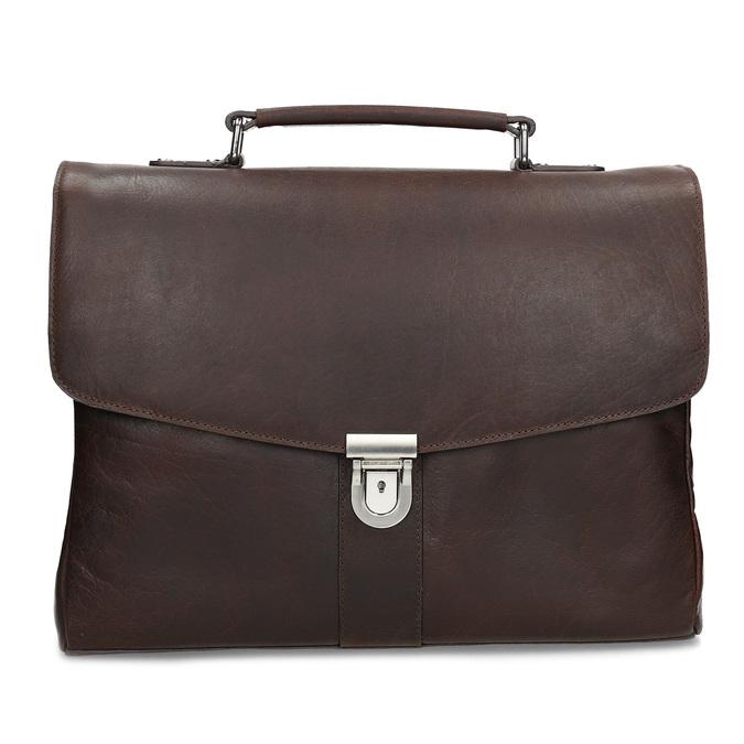 Braune Aktentasche aus Leder bata, Braun, 964-4289 - 26