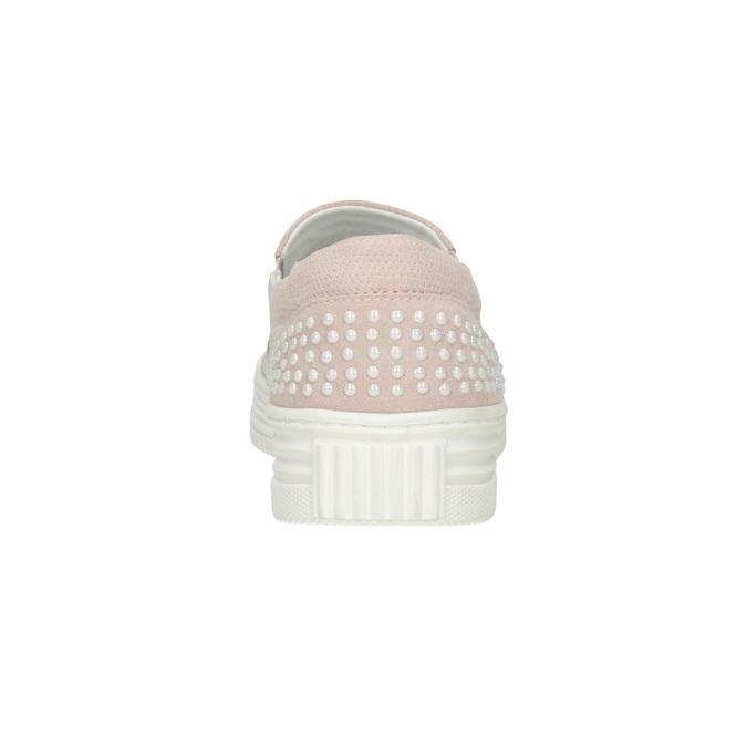 Damen-Slip-Ons aus Leder bata, Rosa, 533-5600 - 16