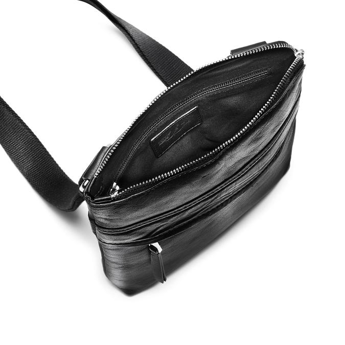 Schwarze Crossbody-Tasche aus Leder bata, Schwarz, 964-6288 - 16