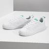 Weisse Sneakers mit grünen Details adidas, Weiss, 501-1300 - 16