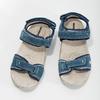 Damensandalen aus Leder weinbrenner, Blau, 566-9608 - 16