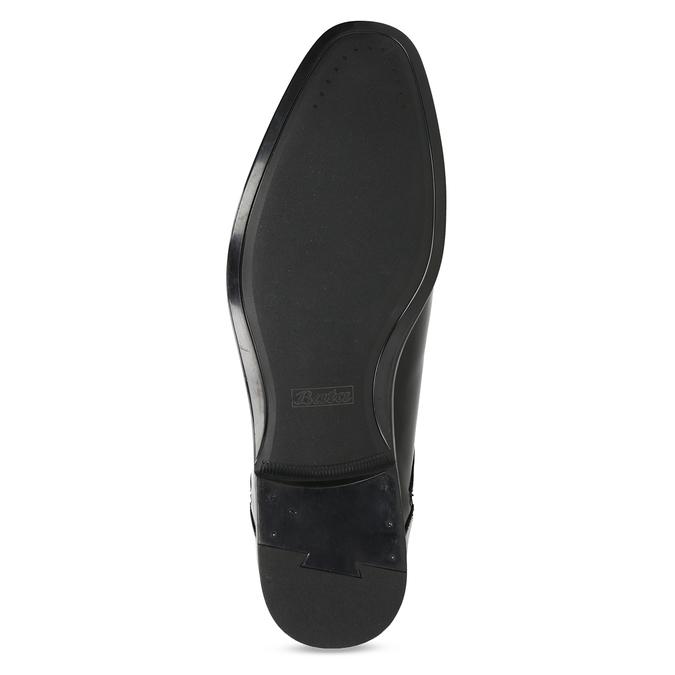 Herrenhalbschuhe aus Leder bata, Schwarz, 824-6758 - 18