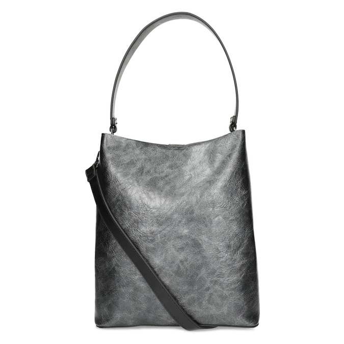Schwarze Hobo-Damenhandtasche bata, Schwarz, 961-2173 - 16