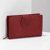 Damen-Geldbörse aus Leder, Rot, 944-5155 - 17